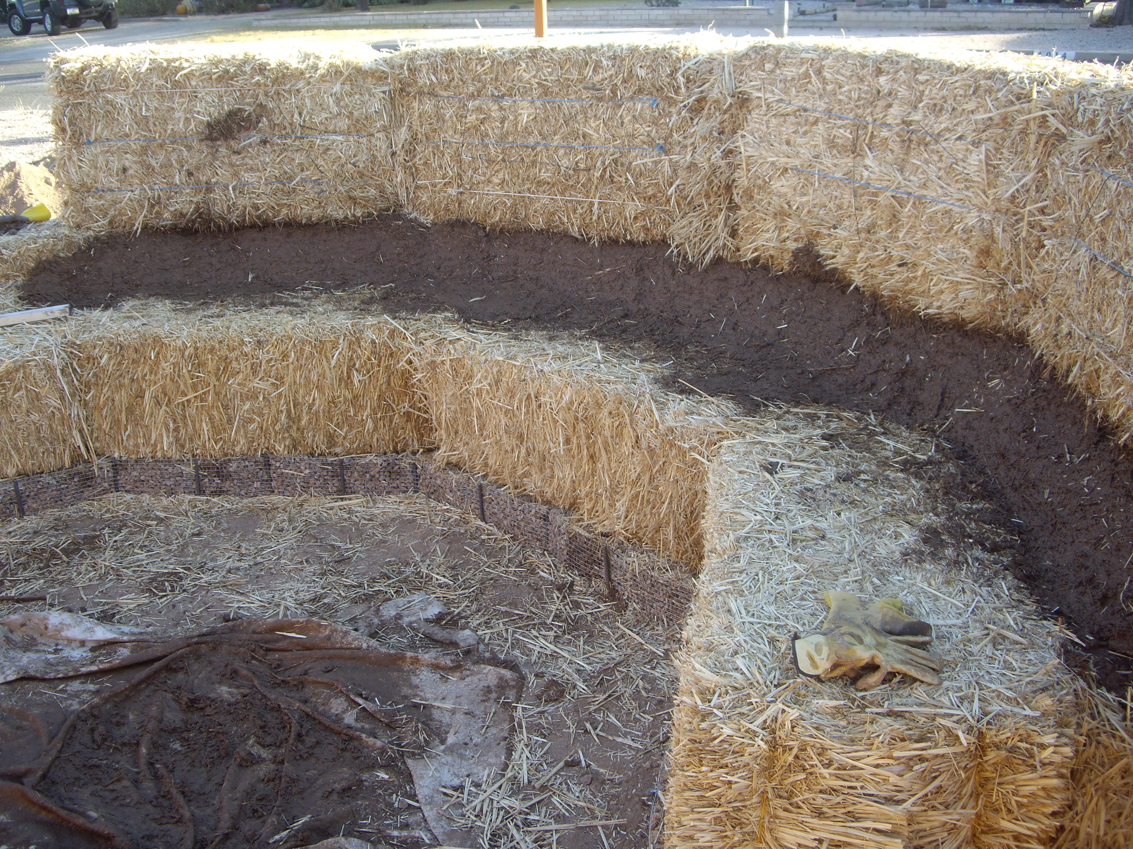 Building A Straw Bale Garden Wall